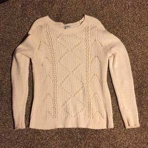 Cream Color Old Navy Cable Sweater